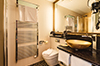Auch die Badezimmer der Goldrausch Badezimmer Doppelzimmer Standardlassen den Badezimmeraufenthalt zu einem optischen Vergnügen werden.