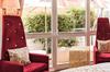 Hier noch ein Blick auf die Terrasse der Goldrausch Doppelzimmer Comfort.